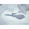 Kép 1/3 - 3 részes babaágynemű szett Belisima - nyuszis, 100/135, fehér-szürke