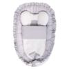 Kép 1/2 - Prémium babafészek paplannal Belisima -szürke, mintás
