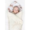 Kép 2/2 - Kétoldalas Baba pólya Minky anyagból New Baby - bézs, mintás
