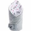 Kép 1/2 - Kétoldalas Baba pólya Minka New Baby - szürke-rózsaszín, mintás