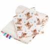 Kép 1/2 - Kétoldalas paplan párna együttes Minky anyag, New Baby teddy bézs
