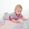 Kép 2/2 - Kétoldalas paplan párna együttes Minky anyag, New Baby teddy szürke