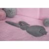 Kép 1/3 - 3 részes babaágynemű szett Belisima - nyuszis, 90/120, rózsaszín-szürke