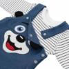 Kép 2/2 - Baba szett New Baby póló és kantáros nadrág kék