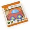Kép 2/2 - Fa képes kirakó puzzle Viga Autó
