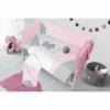 Kép 3/3 - 3 részes babaágynemű szett Belisima - macis, 100/135 rózsaszín