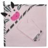 Kép 1/2 - Baba törölköző fürdőkesztyűvel Koala Happy Zebra pink