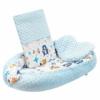Kép 1/3 - Prémium babafészek párnával és paplannal New Baby - minky anyag, kék