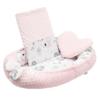 Kép 1/3 - Prémium babafészek párnával és paplannal New Baby - minky anyag, rózsaszín