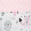 Kép 3/3 - Prémium babafészek párnával és paplannal New Baby - minky anyag, rózsaszín
