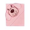 Kép 1/2 - Frottír baba törölköző (kifogó) 80x80 kutya rózsaszín