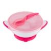 Kép 1/2 - Csúszásgatló tál kanállal Baby Ono rózsaszín