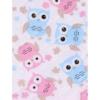 Kép 2/2 - Pelenkázó lap Akuku  55x70 baglyos rózsaszín-kék