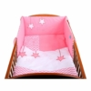 Kép 1/2 - 3 részes babaágynemű szett Belisima - csillag minta, 90/120 rózsaszín