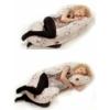 Kép 2/2 - Univerzális szoptatós párna C alakú New Baby - mintás, szürke