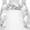 Kép 1/4 - Fonott rácsvédő, csillag mintás, szürke-fehér