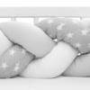 Kép 3/4 - Fonott rácsvédő, csillag mintás, szürke-fehér