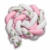 Kép 3/4 - 2in1 Fonott rácsvédő és babafészek egyben, virágokkal, rózsaszín