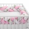 Kép 1/4 - Fonott rácsvédő, virágokkal, rózsaszín
