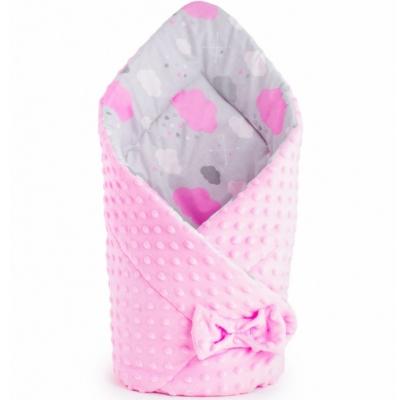 Kétoldalas Baba pólya Minka New Baby - rózsaszín, mintás