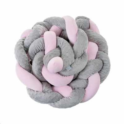 Fonott rácsvédő, szürke-rózsaszín