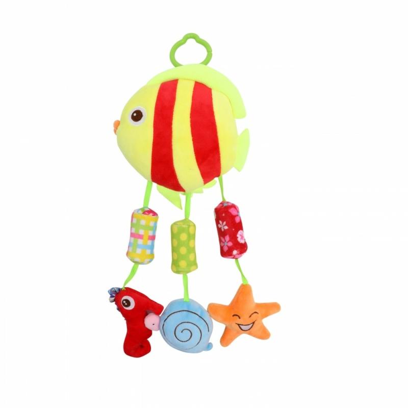 Lorelli Toys készségfejlesztő plüss játék - halacska