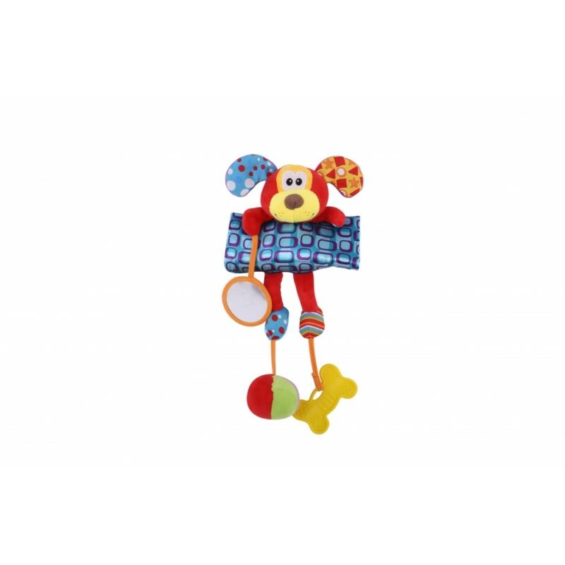 Lorelli Toys plüss babakocsi játék - kutya
