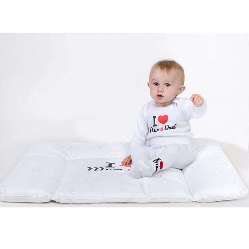 Pamut harisnyanadrág New Baby fehér I Love Mum and Dad
