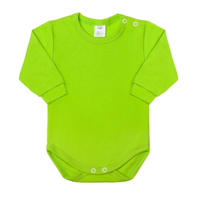 Baba hosszú ujjú body New Baby - világos zöld