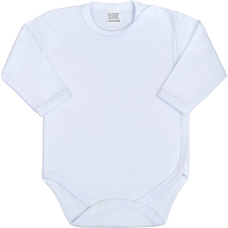 Teljes hosszában patentos body New Baby - Classic, fehér
