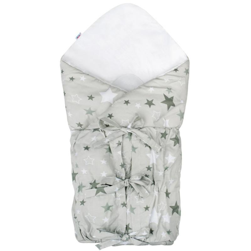 Klasszikus megkötős baba pólya New Baby - csillagos, szürke
