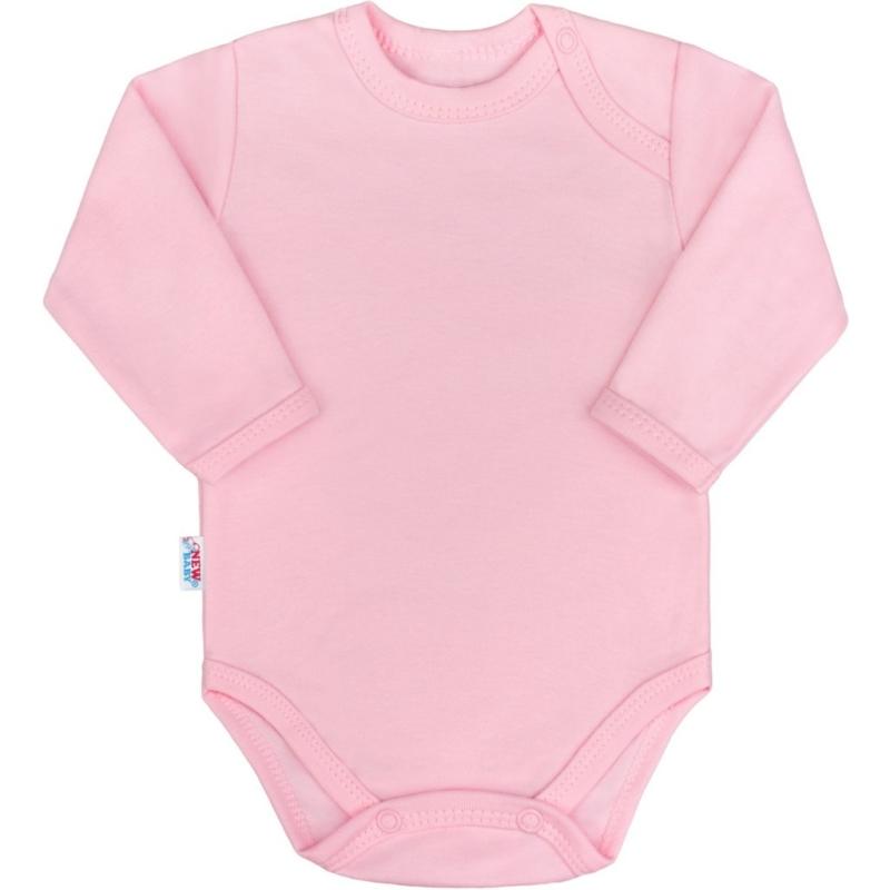 Baba hosszú ujjú body New Baby - Pastel, rózsaszín