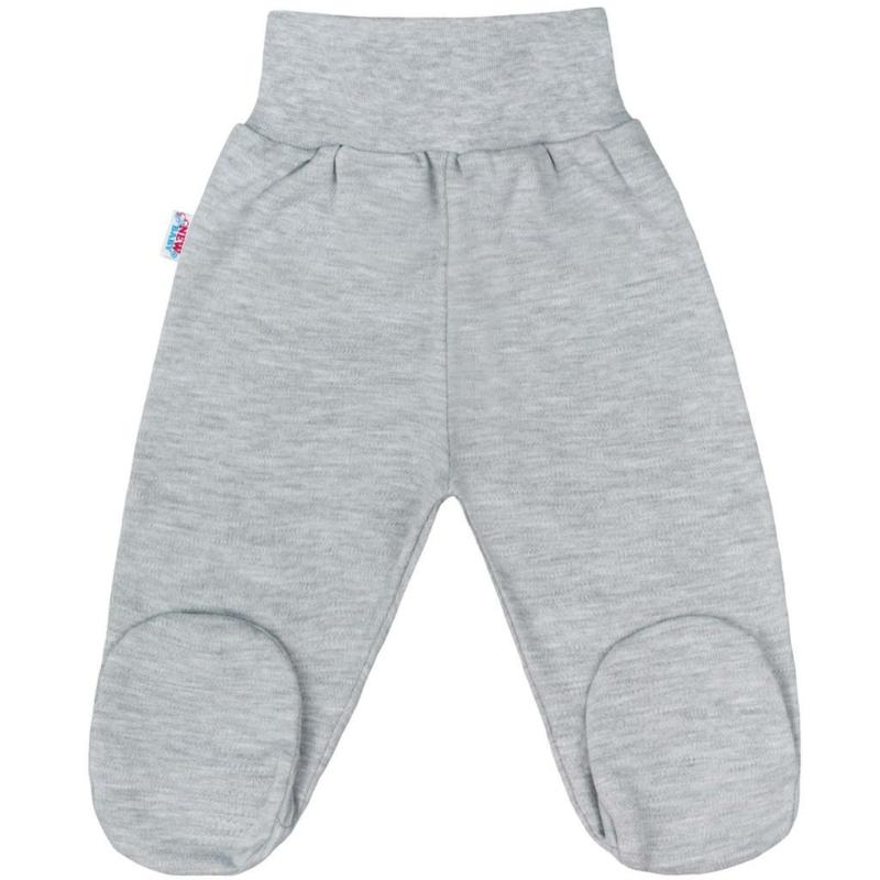 Baba lábfejes nadrág New Baby - Classic, szürke