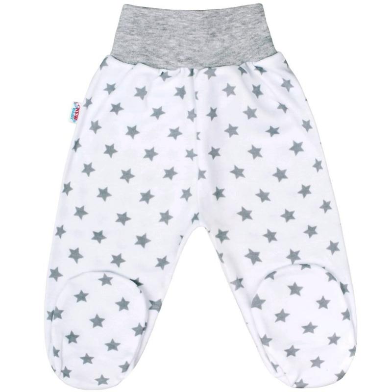 Baba lábfejes nadrág New Baby - Classic, szürke csillagokkal