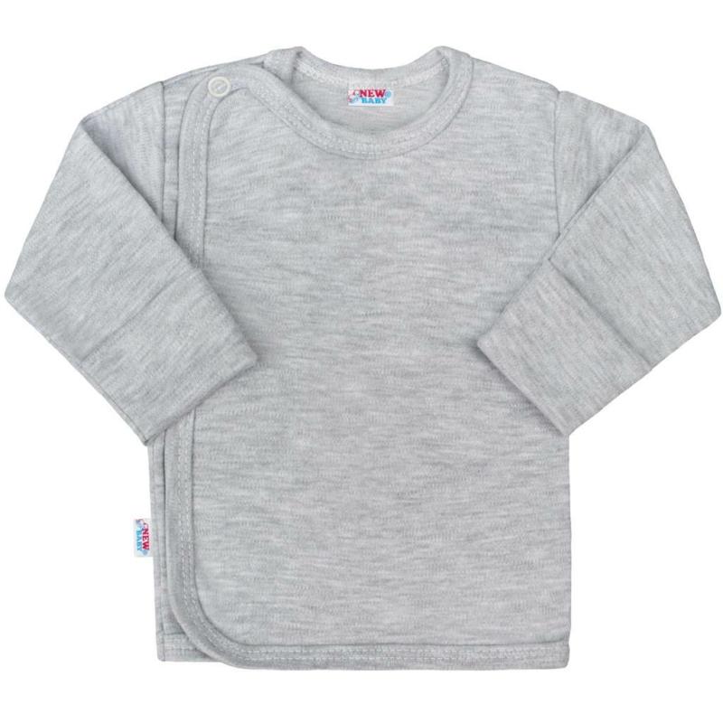 Baba hosszú ujjú póló New Baby - Classic, szürke