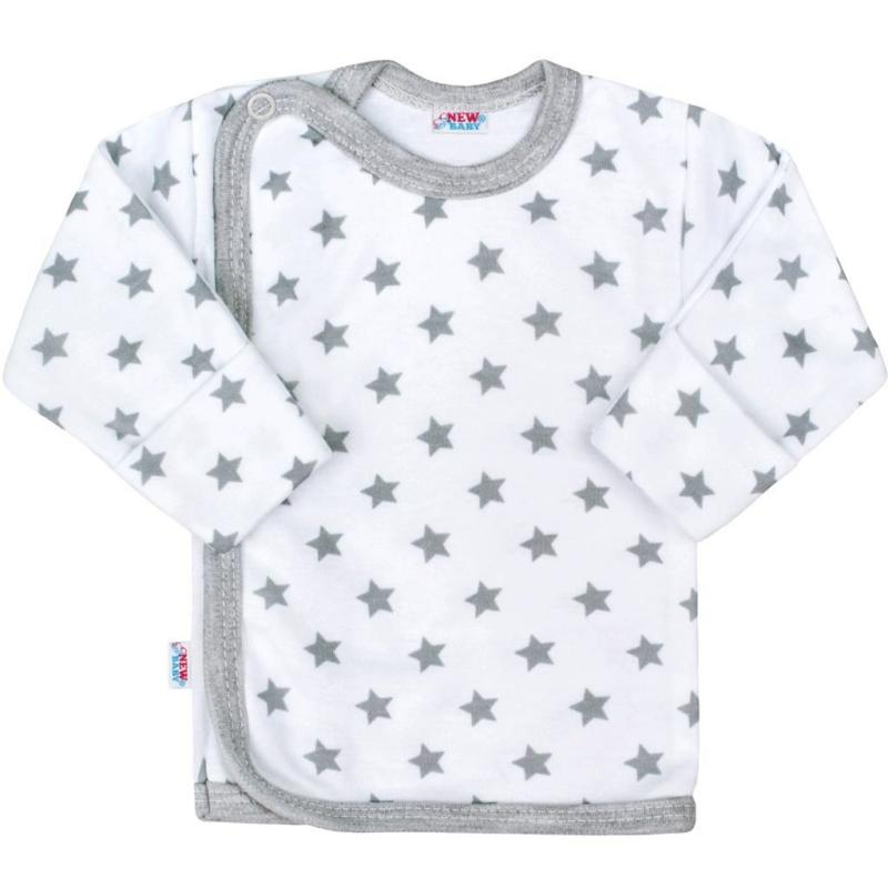 Baba hosszú ujjú póló New Baby - Classic, szürke csillagokkal