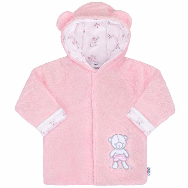 Téli baba kabát New Baby - macis, rózsaszín