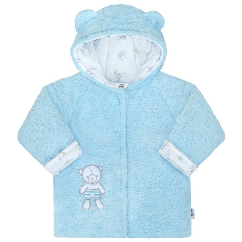 Téli baba kabát New Baby - macis, kék