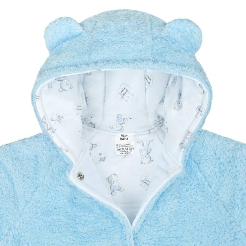 Téli baba kabát New Baby macis kék