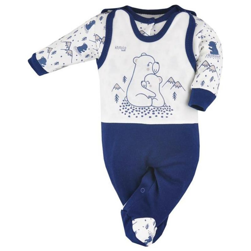 Baba szett Koala- pulóver és rugdalózó, kék