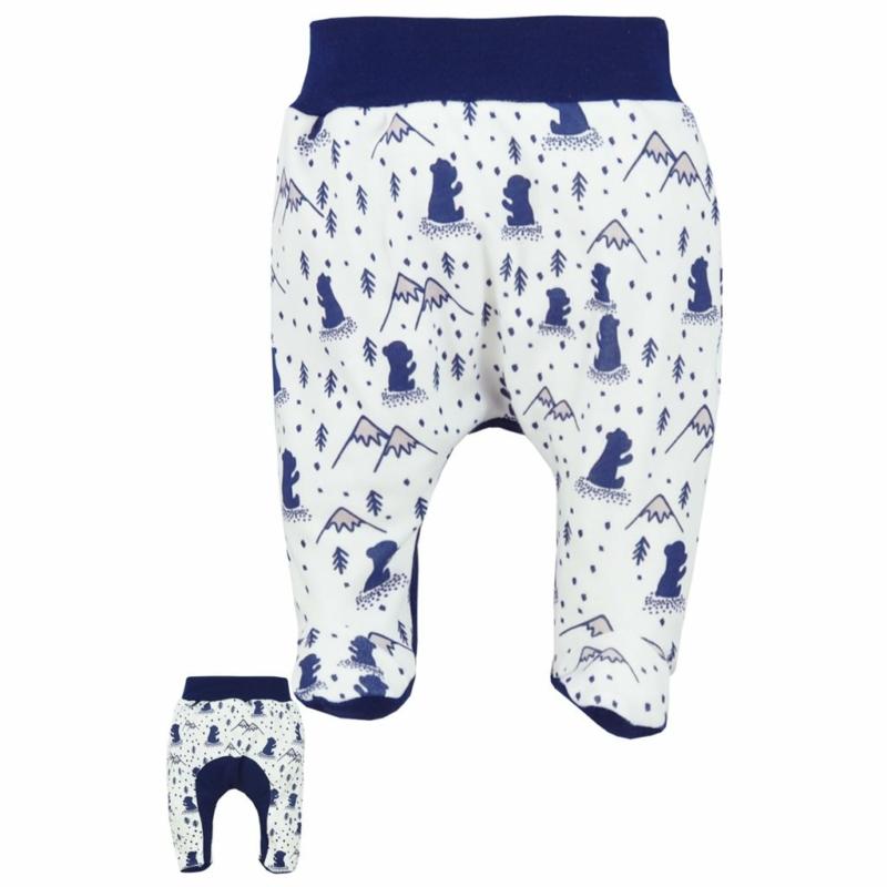 Baba lábfejes nadrág Koala- Tajga, fehér-kék