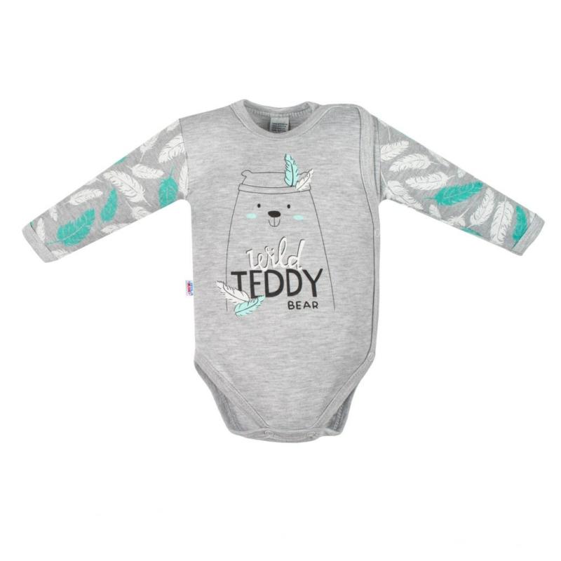 Baba patentos body New Baby - maci mintás