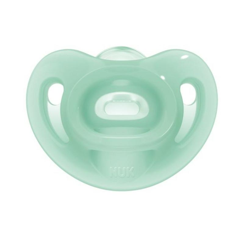Baba szilikon cumi Sensitive NUK 6-18h zöld
