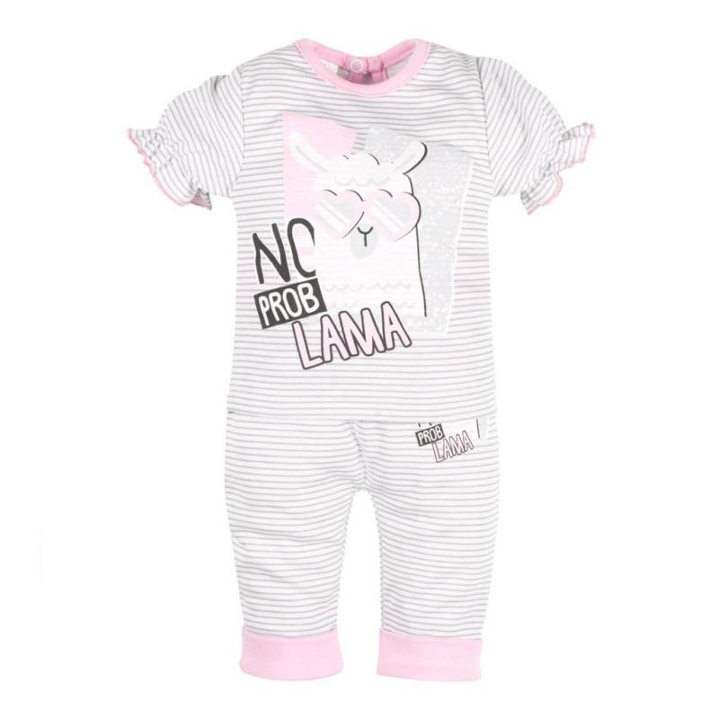 Baba rüvid ujjú póló és nadrág New Baby - csíkos, mintás