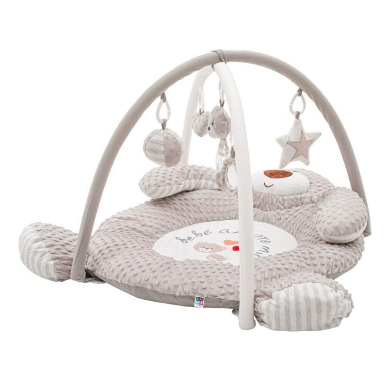 Prémium játszószőnyeg PlayTo - minky anyag, zenélős, maci