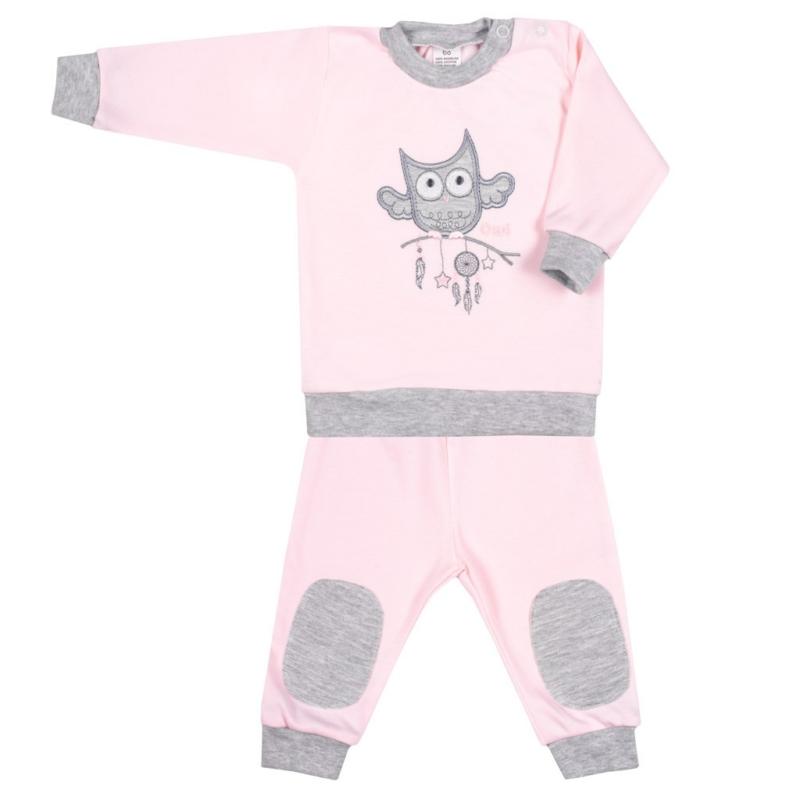 Baba szett New Baby - pulóver és nadrág, rózsaszín