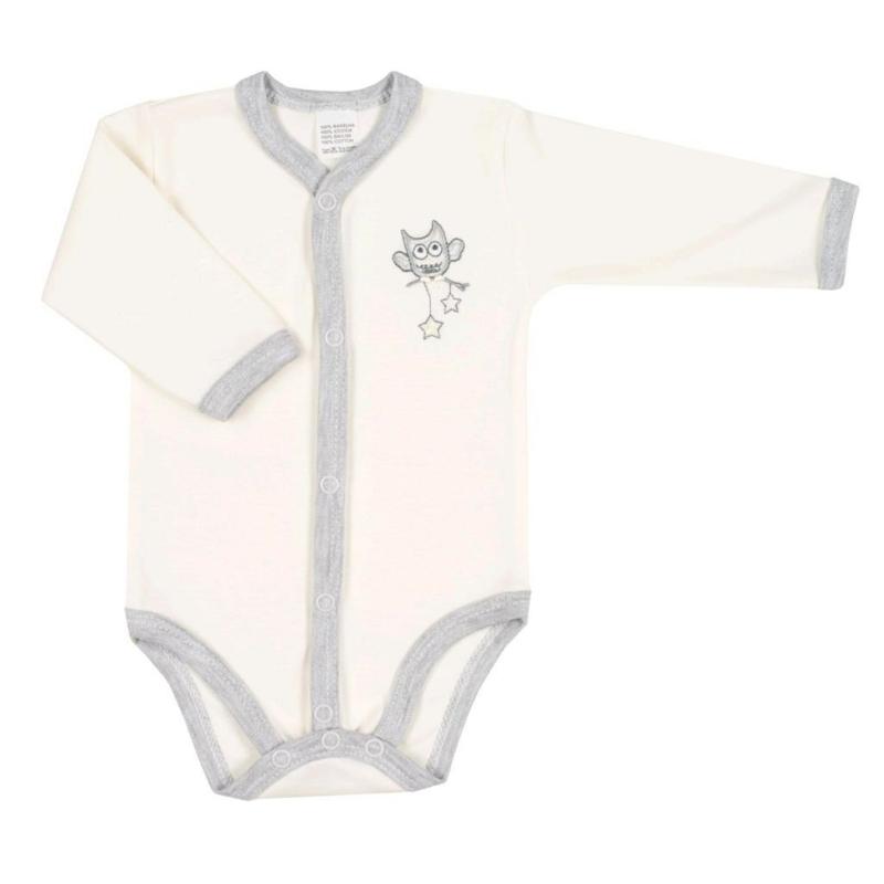 Baba patentos body New Baby - Bagoly mintával, bézs