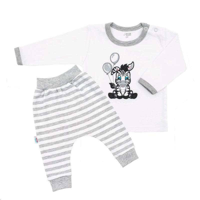 Baba szett New Baby - pulóver és nadrág, zebrás