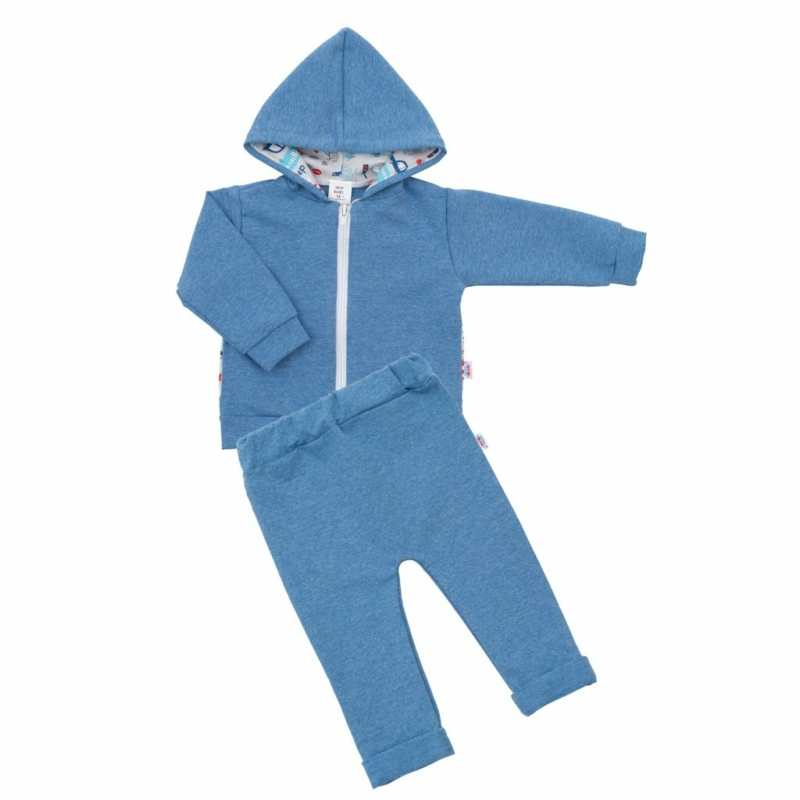 Baba szett New Baby - pulóver és nadrág, kék