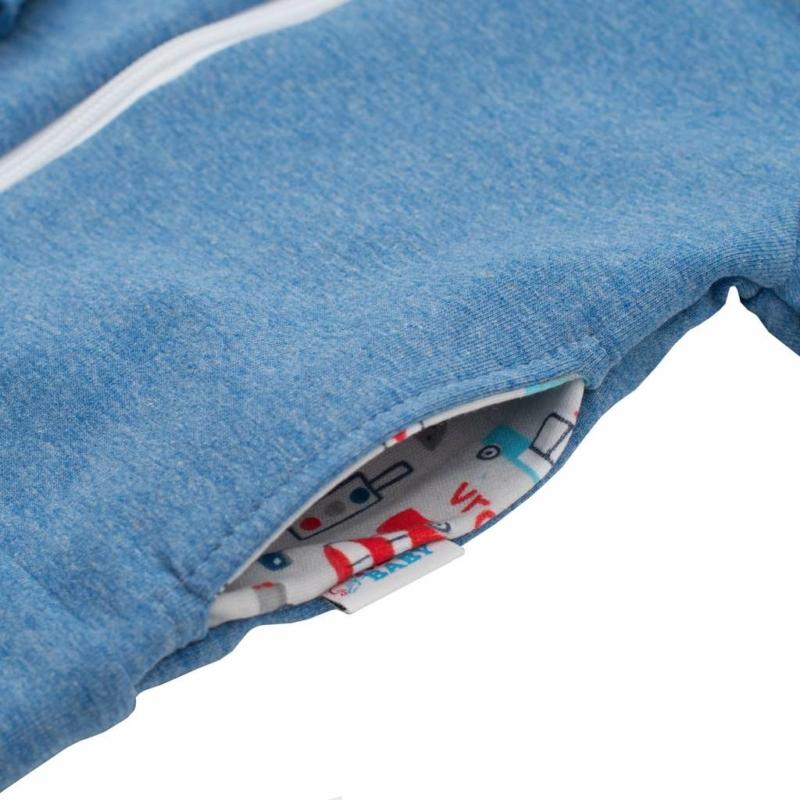 Baba szett New Baby pulóver és nadrág kék